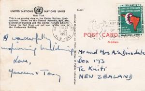 UN postcard back