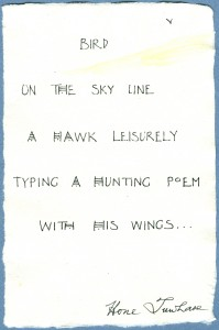 Honi Tuwhare Poem