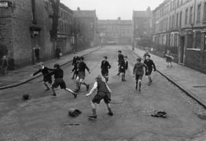 football in street