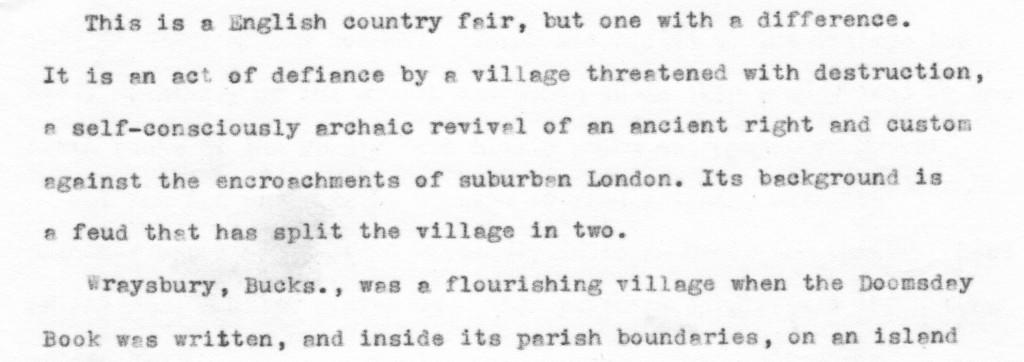 village fair story